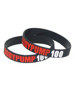 50PCS Les Mills BODY PUMP 100 Silicone Wristband Sports Barbell Silicone... - $64.87