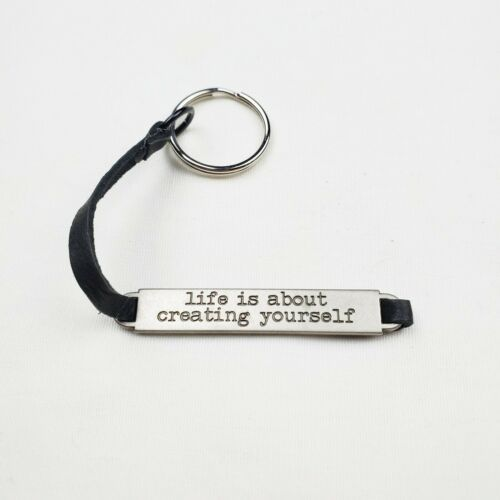 Primary image for Handmade Keychain Life is About Creating Yourself Faux Leather Inspirational