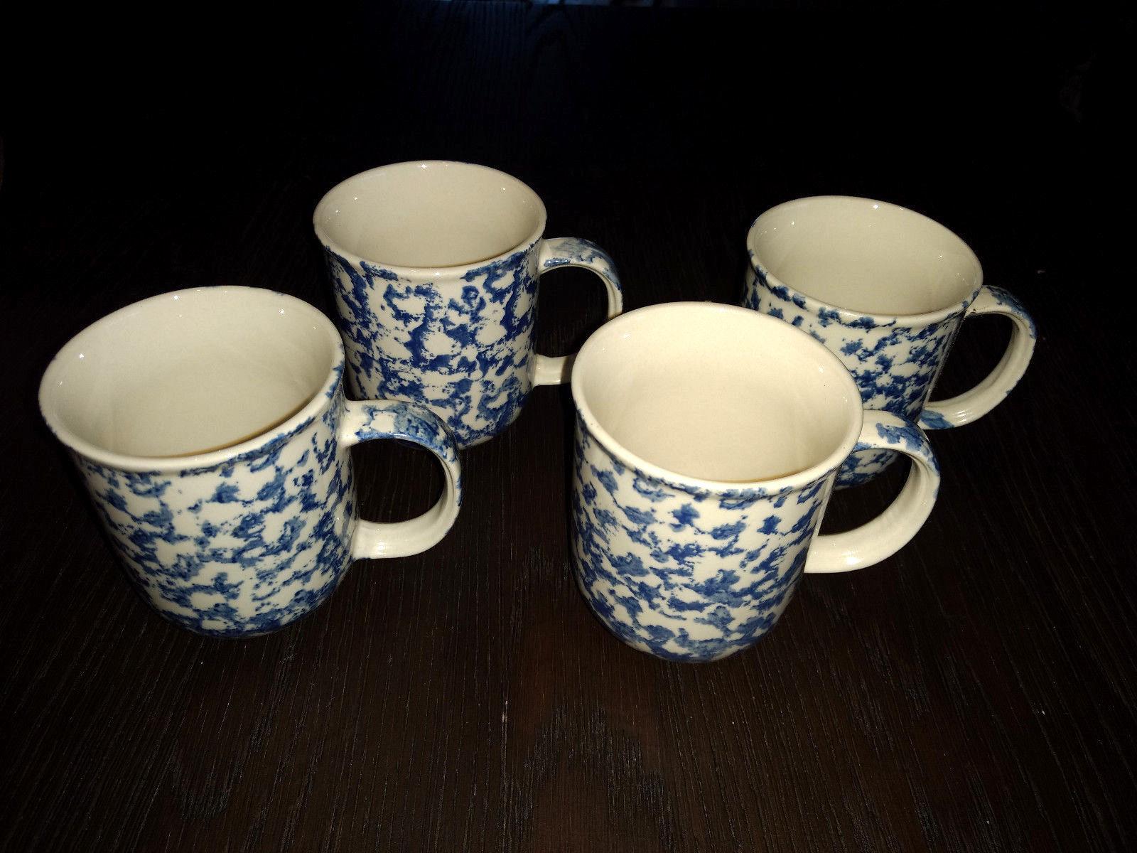 Tienshan Folk Craft Set of 4 Coffee Cups Animal Series RETIRED