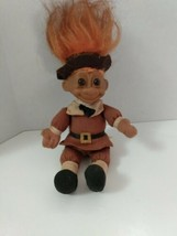 Vintage Russ Troll Doll Mr. Thanksgiving Pilgrim  - $9.90