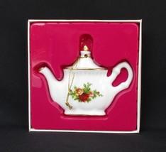 Royal Albert Old Country Roses Tea Pot Christmas Ornament NIB - $11.75