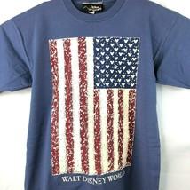 Mickey Ears USA Flag Vtg WDW T-Shirt Large Fit (S/M Tag) Mens Disney Originals - $33.72