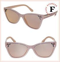 BVLGARI SERPENTI BV8208 Nude Pink Rose Scales Mirrored Cat Eye Sunglasse... - $252.45