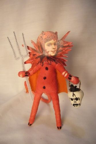 Vintage Inspired Spun Cotton, Shedevil Halloween  254L