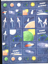 birthday space theme decoupage sheet high quality printed on quality paper ideal