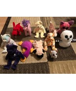 TY Beanie Babies Lot 12 Rare Retired With Beanie Boos No TAGS - $19.79