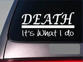 Death sticker decal *E322* death mortician embalming funeral casket parlor love - $3.19