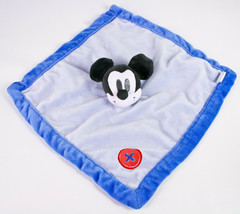 Disney Baby Mickey Mouse Plush Blue w/ Red Button Corner Security Blanket Lovey - $13.95