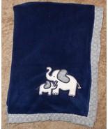Koala Baby First Love Elephant Mommy Baby Blanket Dark Navy Blue Circles... - $30.38
