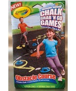 Crayola OSTACLE COURSE Chalk Grab and Go Games - Outdoor Fun! - $6.94