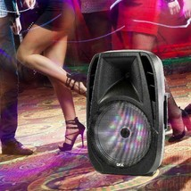 Portable Loud Speaker Bluetooth Party 7,500W 15 Inch Wireless Microphone... - $151.47 CAD