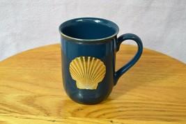 "Otagiri Clam Shell 8oz Blue Gold Coffee Mug ""Golden Treasures"" Replaceme... - $15.29"