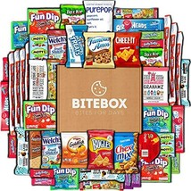 BiteBox Care Package 45 Count Snacks Cookies Bars Chips Candy Ultimate Variety G