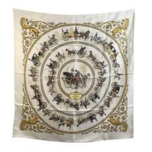 Authentic Hermes Vintage Silk Scarf La Promenade de Longchamps 1965 Ledoux - $232.65