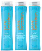 PURE BRAZILIAN - 3 Piece: Anti-Frizz Shampoo, Conditioner, Serum