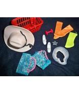 Vintage Barbie 80's Accessories Western Hat Shoes Socks Basket Miscellan... - $12.82