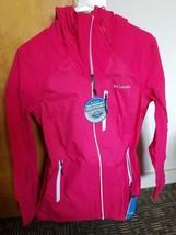 New Columbia Women Omnitech Waterproof McGregor Peak Hooded Waterproof Jacket, M - $115.82