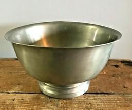 Vtg International Pewter Footed Pedestal Farmhouse Serving Bowl 276-35-3... - $9.74
