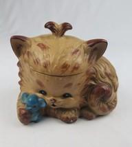 Vintage Howard Holt HH cat kitten cookie jar ceramic kitchen decor Japan... - $56.43