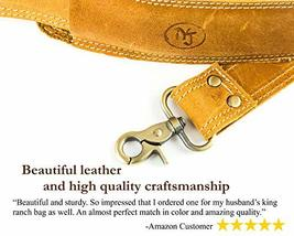 Messenger Bag Strap Replacement - Quality Genuine Cowhide Leather Adjustable Sho image 3