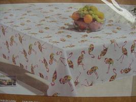 "Cynthia Rowley Floral Flamingos Indoor/Outdoor Tablecloth 84"" Oblong - $38.00"