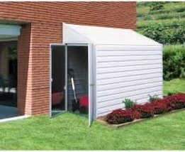 Arrow Shed Yardsaver 4 x 7 ft. Shed Galvanized Steel Color Eggshell By D... - $665.29