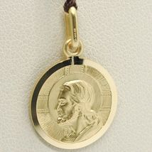 SOLID 18K YELLOW GOLD JESUS CHRIST REDEEMER 19 MM MEDAL, PENDANT, MADE IN ITALY image 4