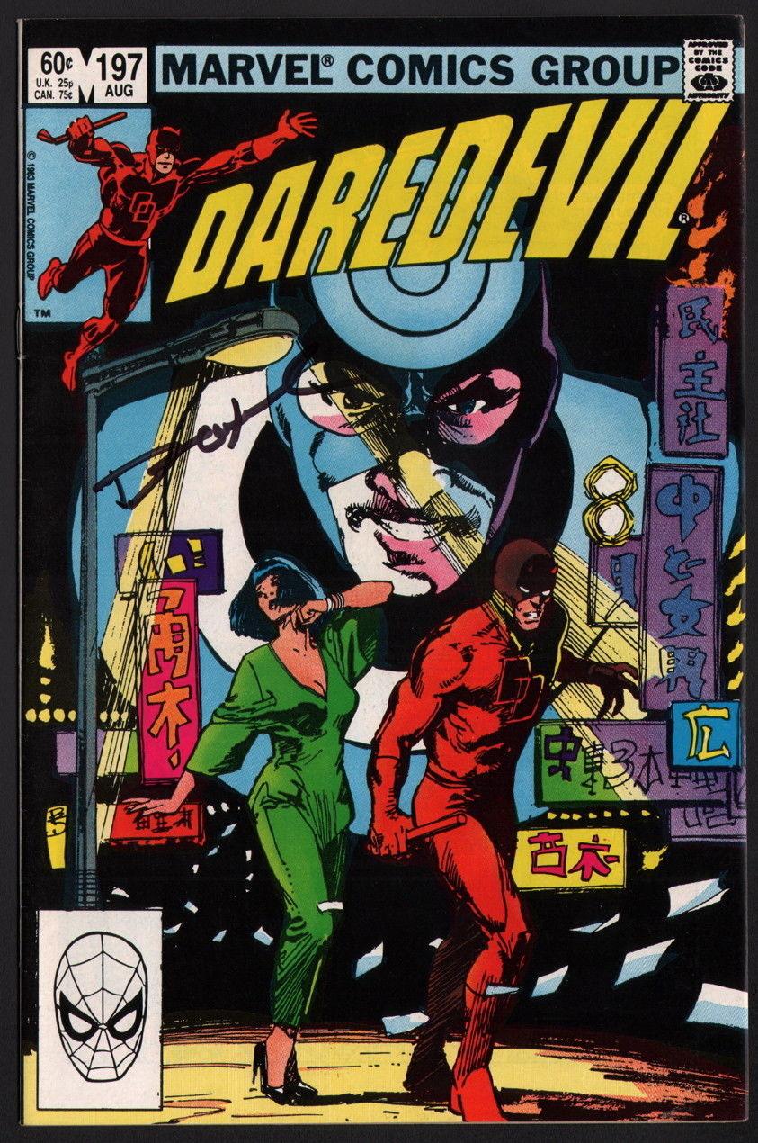 Daredevil #197 SIGNED by Denny O'Neill / Bill Sienkiewicz Cover Klaus Janson Art