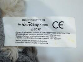 """Vintage Disney Tramp Plush Dog Grey Stuffed Animal Metal DogTag 14"""" image 9"""