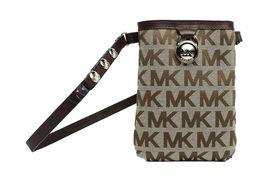 Michael Kors MK Women's Cut Out Leather Canvas Purse Belt Fanny Pack Bag 551501 image 5