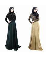 2016 Autumn Women Lace Long Sleeve Party Maxi Embroidery Dress Jilbabs A... - $44.56+