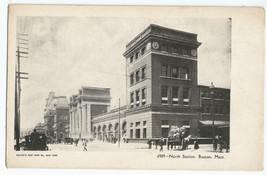 Boston MA Mass North Station UDB Vintage Early 1900's Postcard - $6.95