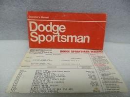 1973 Dodge Sportsman Van Owners Manual 16372 - $18.76