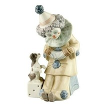 """Lladro #5279 """"Pierrot with Concertina"""" Clown Playing Accordion for Puppy... - $89.10"""