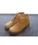 Brown Leather Ankle Boot Shoe Vibram Soles , Size 8.5 B - $24.84