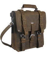 "Vagarant Traveler Hiker 14"" Tall Cowhide Full Leather Backpack L03.Distress - $269.00"