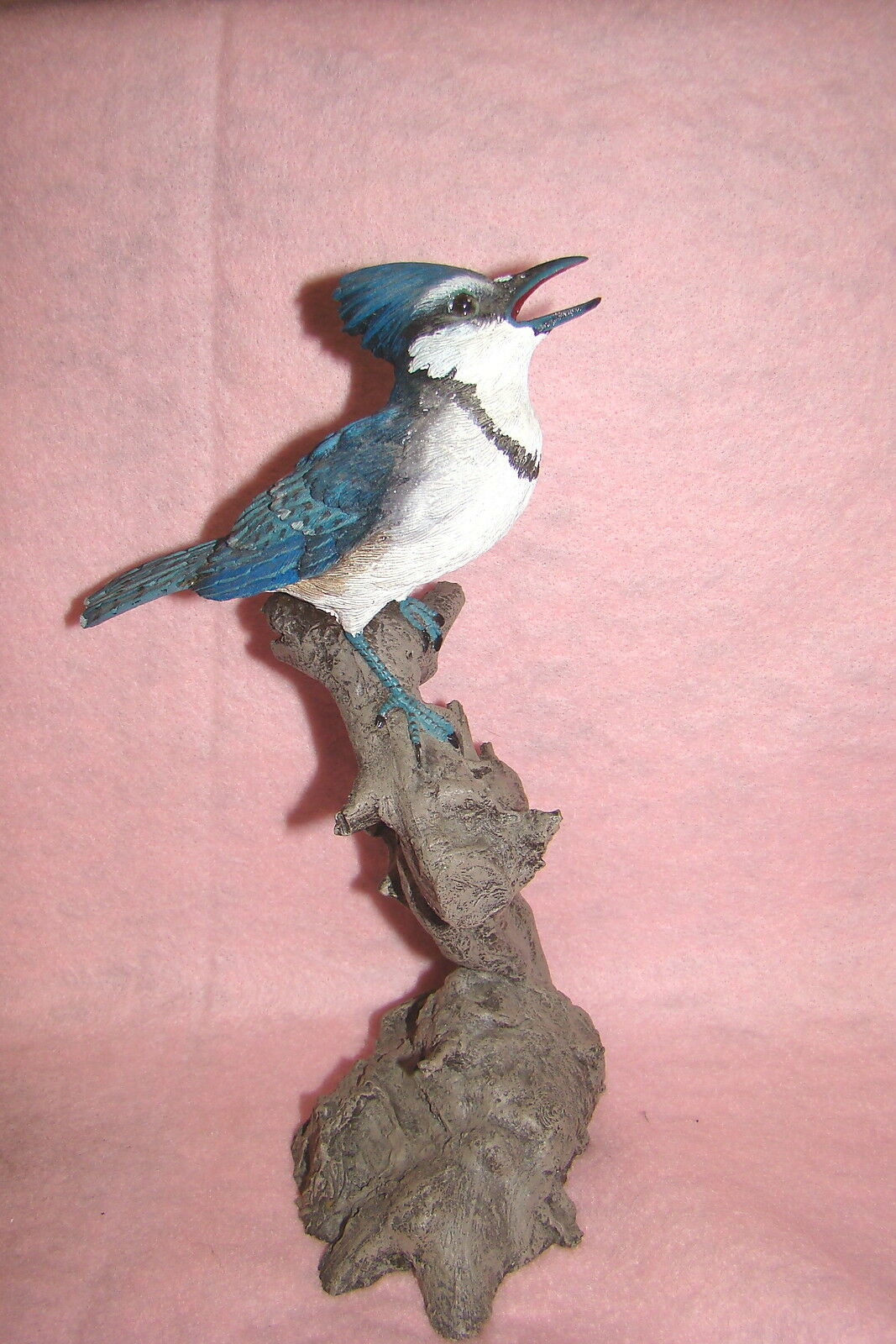 Beautiful Blue Jay Perched on a Tree Branch, Collectible Figurine image 2