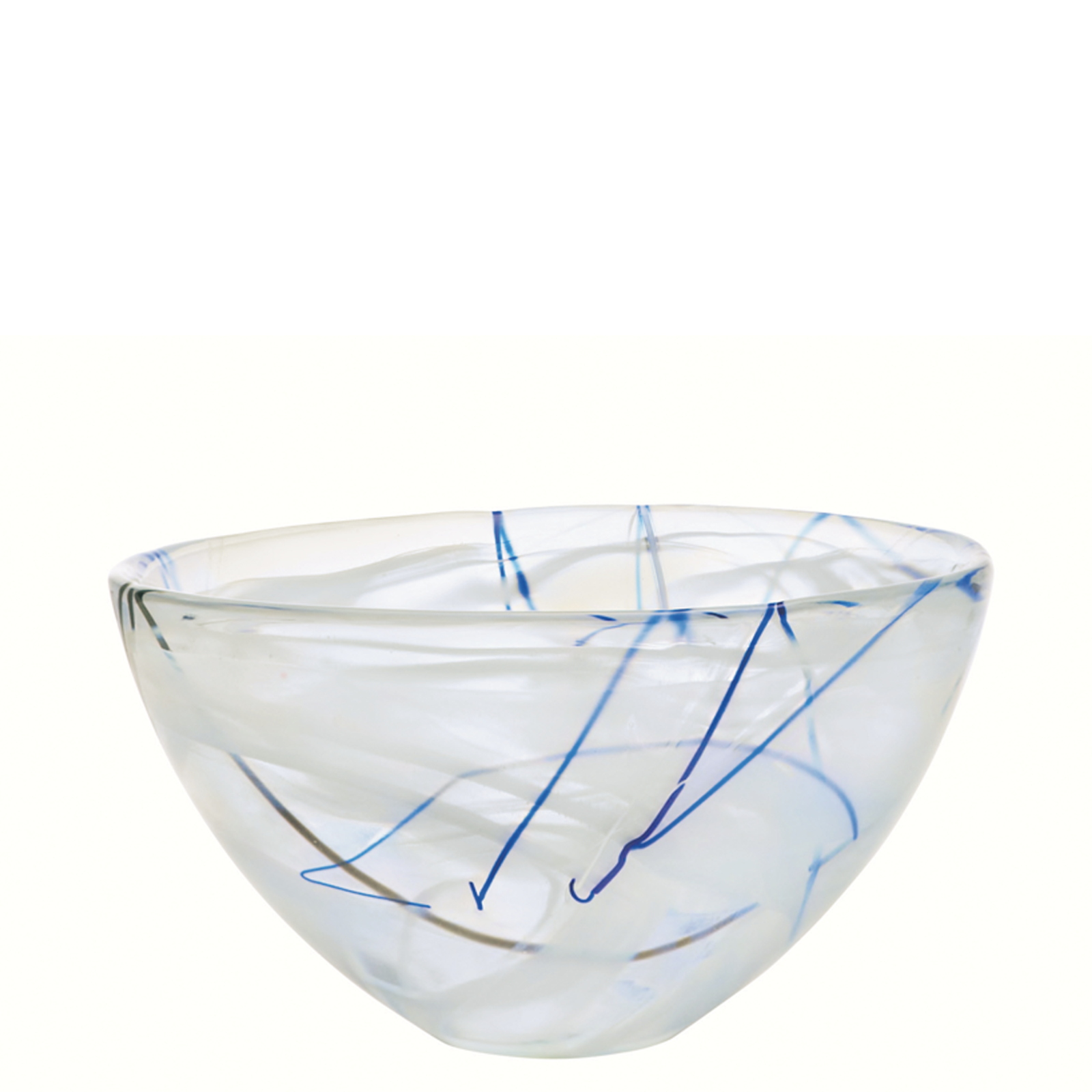 Kosta Boda Serveware White Contrast Bowl, 3 Sizes
