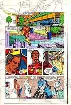 Original 1983 Invincible Iron Man 177 page 4 Marvel Comics color guide artwork - $99.50