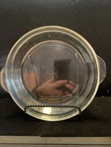 "Vintage Fire King Clear Glass Pie Plate # 461.  9"" - $10.00"