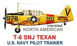 1/144 scale Resin Kit North American T-6 Texan SNJ US Navy Pilot Trainer - $12.00