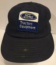 Vtg Ford Tractors Snapback Trucker Hat Cap USA Louisville Blue Patch Equ... - $37.39
