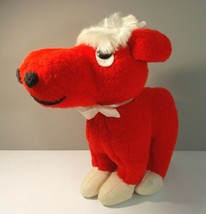 Vintage Red Cow Calf Bull Plush Stuffed Toy Animal Fair By George RARE - $199.99