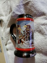 Budweiser Beer Stein 1992 Holiday  A Perfect Christmas Clydesdale Ceramarte - $29.69