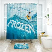 Cartoon 01 Shower Curtain Waterproof Polyester Fabric & Bath Mat For Bathroom - $16.30+