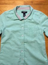 Gap Kids Girl's Teal Long Sleeve Dress Shirt - Size: Medium image 3
