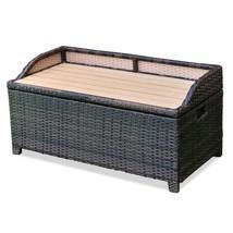 50 Gallon Patio Garden Rattan Wicker Storage Bench - £105.19 GBP