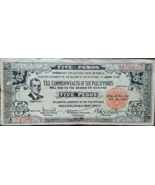 PHILIPPINE Negros Occidental Provincial Currency 1942 Five Pesos Bacolod - $5.95