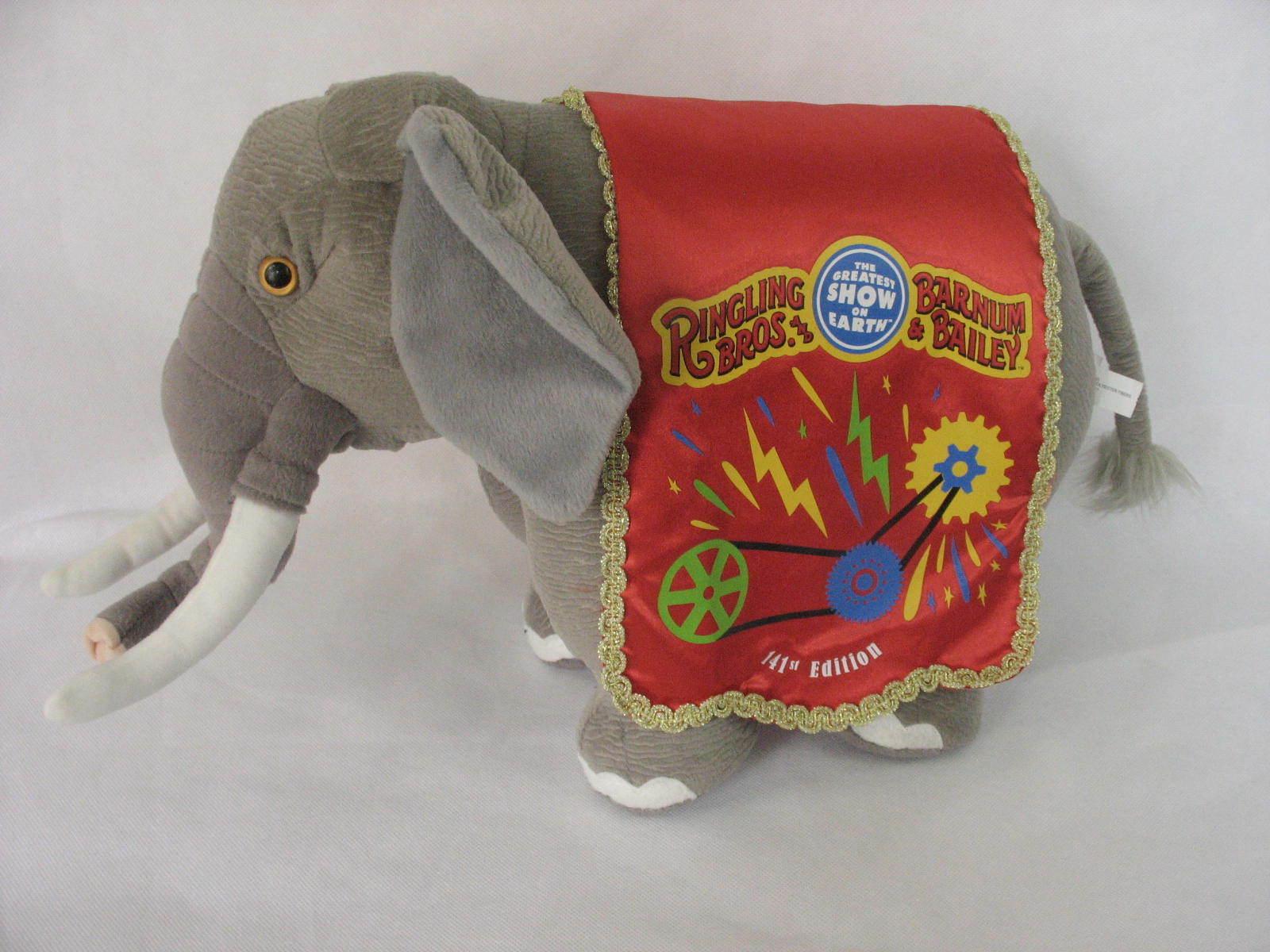 Ringling Bros Barnum and Bailey 141st Edition Circus Elephant Stuffed Plush