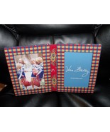 """Vera Bradley Double 5""""  X 7"""" Tabletop Picture Frame Emily Pattern Blue Plaid NEW - $20.28"""